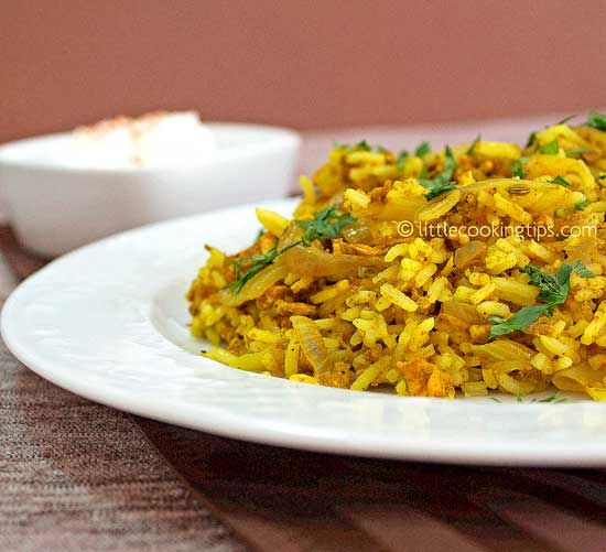 Egg curry fried rice: An Indian style recipe of a classic Chinese dish