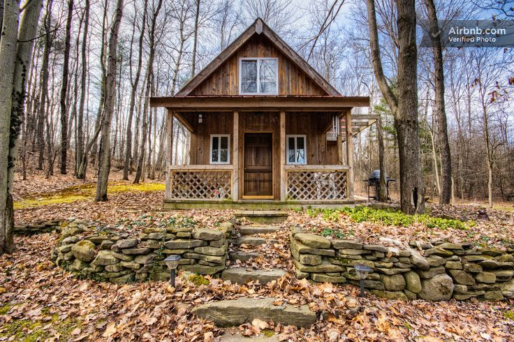 Springs Retreat Cabin Rental in Montour Falls: Wood Planks, Cabins Dreams, Retreat Cabins, Dark Wood, Cabins Rental, Spring Retreat, Small Cabins, Montour Fall, Wood Doors