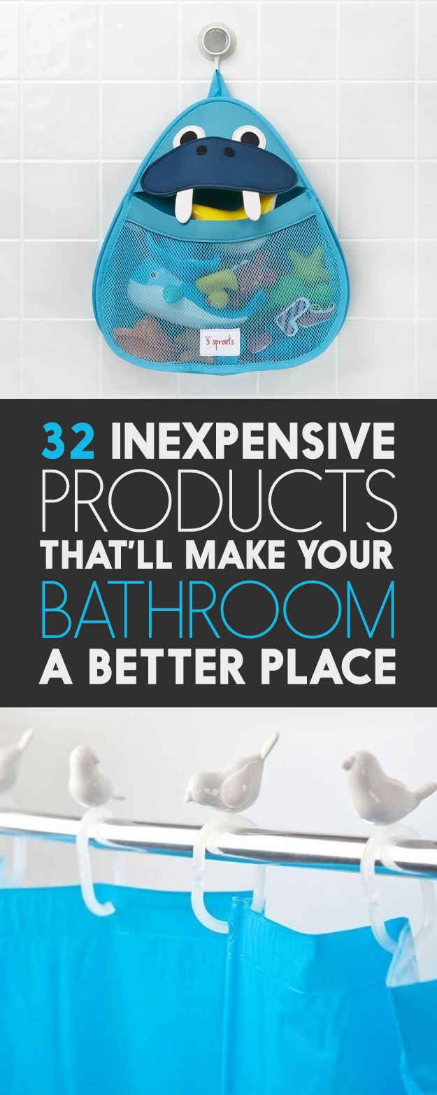 32 Insanely Awesome And Inexpensive Things You Need For Your Bathroom..I have to get when I move!