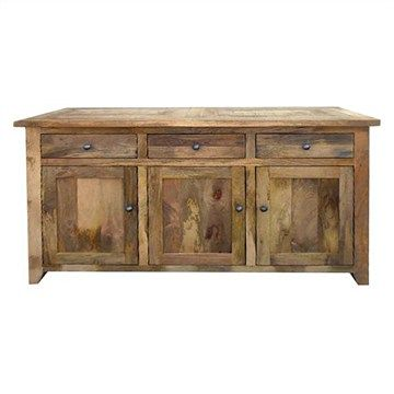 Hexagon Solid Timber Parquetry Top Buffet Table