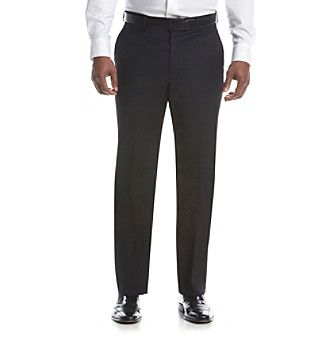 Lauren Ralph Lauren Men's Black Suit Separates Flat Front Pants