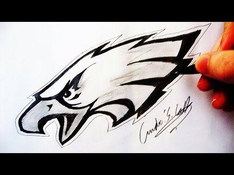 Como Desenhar a logo Philadelphia Eagles - (How to Draw Philadelphia Eagles logo) - NFL LOGOS #1 - YouTube