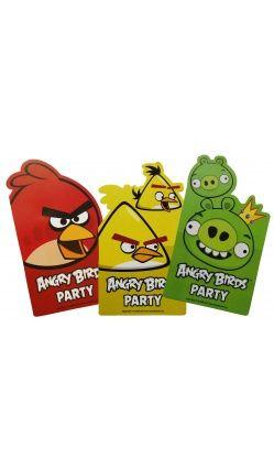 Angry Birds™ - Lot de 6 Cartes d'Invitation