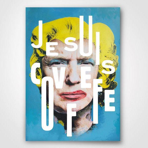 'Je suis covfefe' A0, 2017.#deshalb #DeshaNujsongsinn #deshalbpunkt #creativedirector #collagist #collage #collageart #g...