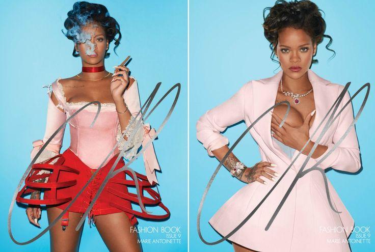 Fumando un puro y vestida con un top de Dilara Findikoglu y una mini-polisón de Le Vestiaire, así aparece Rihanna en la primera portada del número nueve de CR Fashion Book. En la segunda, en cambio, su abrigo-traje de Dior es eclipsado por la polémica imagen de la cantante. ¿Su autor? Terry Richardson. (Foto:CR Fashion Book).