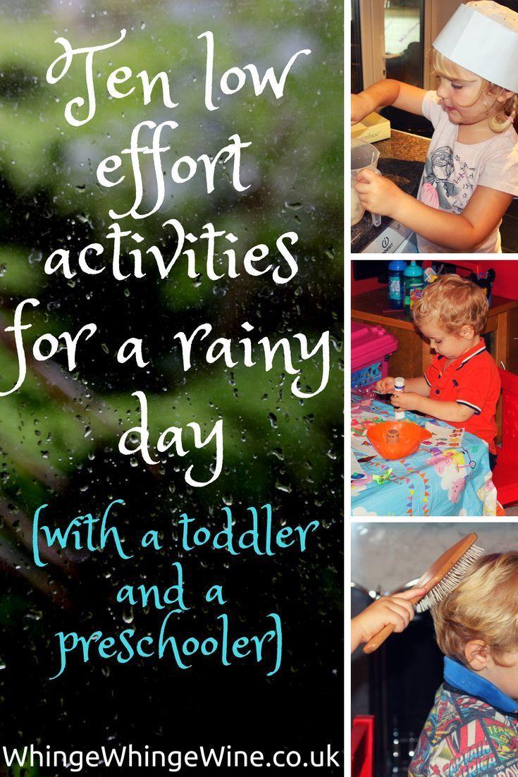 Ten Low Effort Rainy Day Activities For Toddlers And Preschoolers
