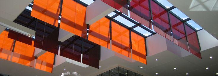 Red & Orange PEP core panels create great aesthetics