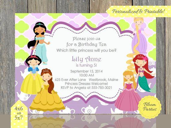 71 best images about Disney Princess Tea Party Ideas – Disney Princess Tea Party Invitations
