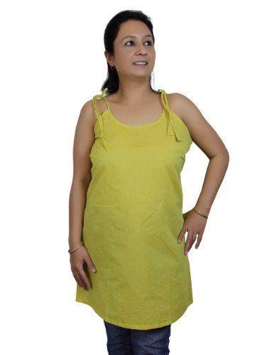 Spaghetti Strap Tank Tops Kurti for Women in Lemon Green Handloom Woven Cotton (XS/32) ShalinIndia http://www.amazon.in/dp/B00KMV75MS/ref=cm_sw_r_pi_dp_X-00tb02MQ1DWGBR