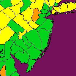 New England Fall Foliage Map