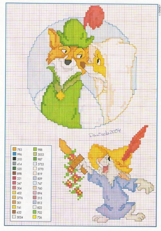 Disney Robin Hood Maid Marion wedding cross stitch