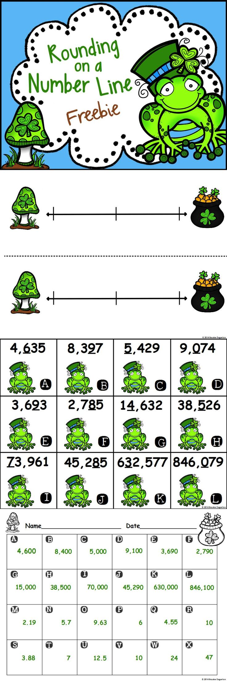 Freebie: Rounding Task Cards--Whole numbers and decimals