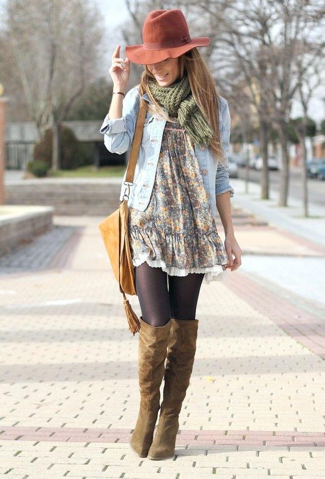 Moda boho chic para la primavera #bohofashionwinter Moda
