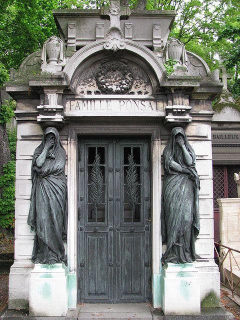PLACES TO VISIT IN PARIS  Père Lachaise Cemetery, Paris France -- has the most sculptural graves I've seen so far