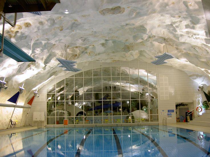 Grottebadet- Harstad. Swimming Pool Norway.