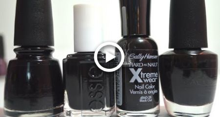 The Battle of The Black Nail Polishes