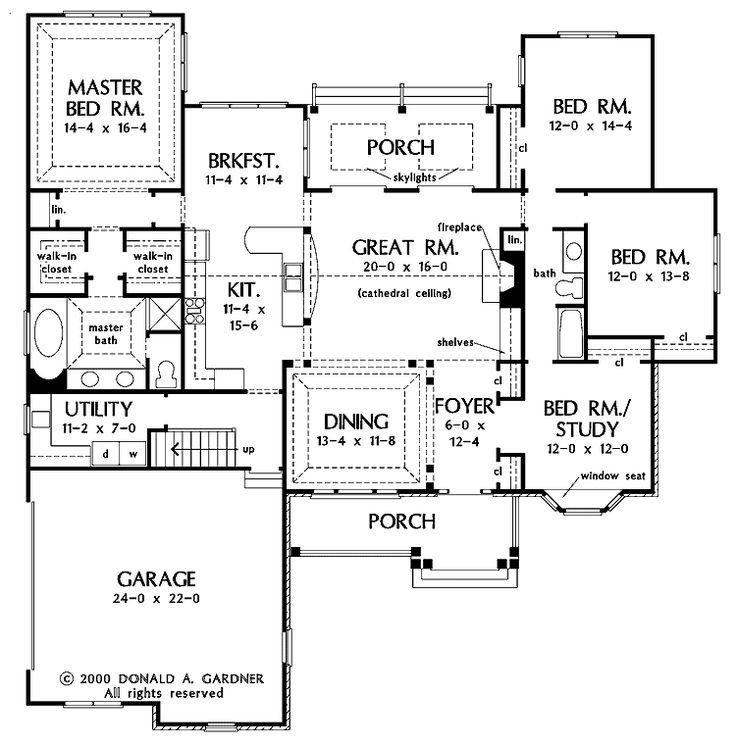 The 25 Best Open Concept House Plans Ideas On Pinterest House Plans Floor Plans Open Floor House Plans