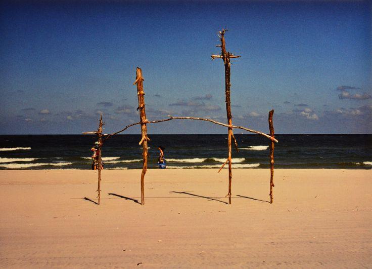"Yury Ermolenko, ""FLIGHT INTO EGYPT III"" (Land art project ""Baltic - Hel""), 2003, Hel Peninsula, Baltic Sea, Poland #YuryErmolenko #юрийермоленко #ЮрийЕрмоленко #yuryermolenko #юрiйєрмоленко #ЮрiйЄрмоленко #юрийермоленкохудожник #landart #balticsea #sea #sky #amazing #RapanStudio #photo #photography #metaphysics #metaphysical #philosophy #installation #лэндарт #инсталляция #art #contemporaryart #modernart #magic #texture #лэндарт #poland #hel #helpeninsula #artproject #искусство #creative"