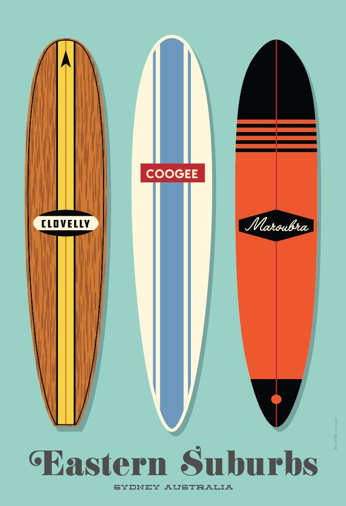 Surfing Poster . 70 x 100cm available from: info@russelltate.com