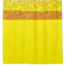 Gold Yellow Orange Design Shower Curtain