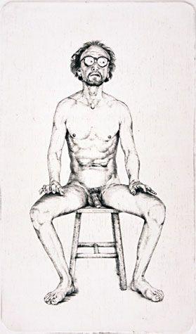 Arne Bendik Sjur. Listen I (Part I), 1988. Drypoint. Edition of 52. 6-1/2 x 3-3/4 inches. 34157