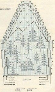 Вязаный свитер с оленями схемы
