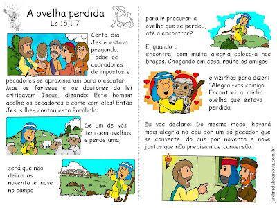 Jardim da Boa Nova: Aprendendo com as Parábolas - Parábola da ovelha p...