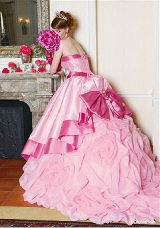 Beautiful Pink Wedding Dresses