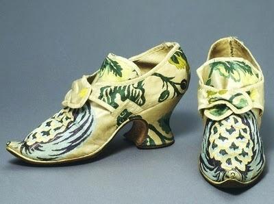 spitalfield silk shoes, c.1790