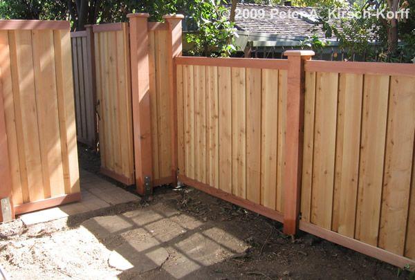 vertical modern fence