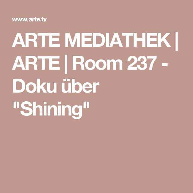 Arte Mediathek Doku