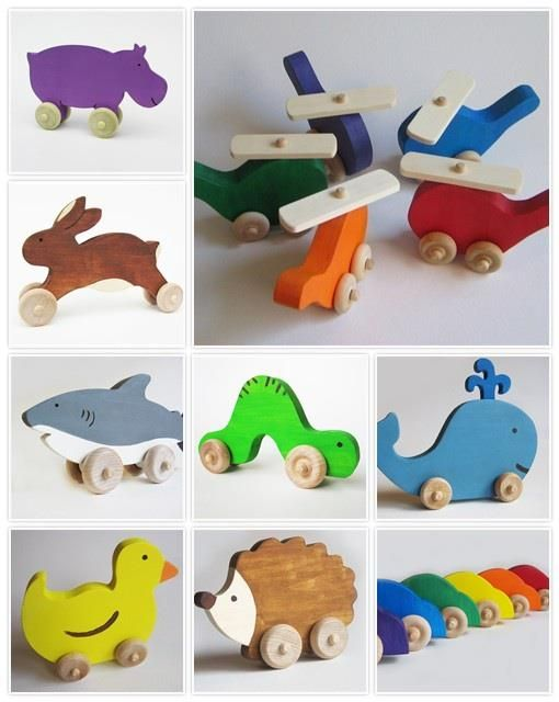 Adorable wood toys!