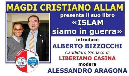 Magdi Allam presenta la lista liberiamo Casina.
