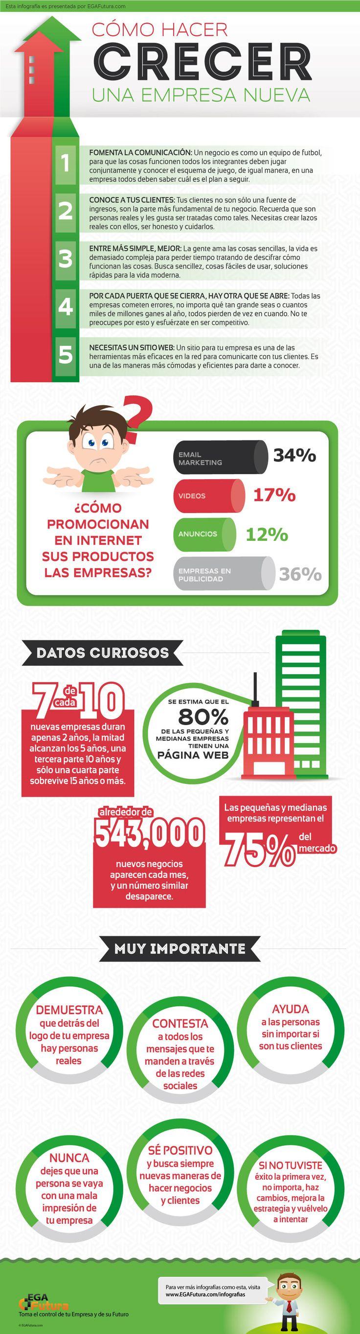 Cómo hacer crecer una empresa nueva #infografia #infographic #entrepreneurship #MUN2emprende