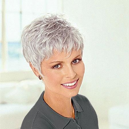 image result for short hair styles for women over 50 gray