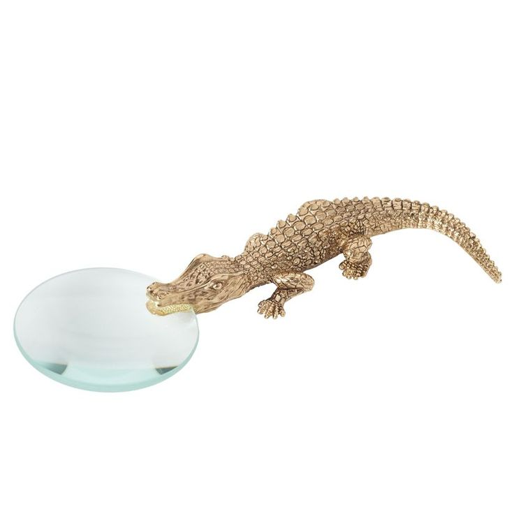 Shop for the crocodile gold magnifying glass by lobjet at artedona enjoy personal service worldwide delivery and secure online ordering