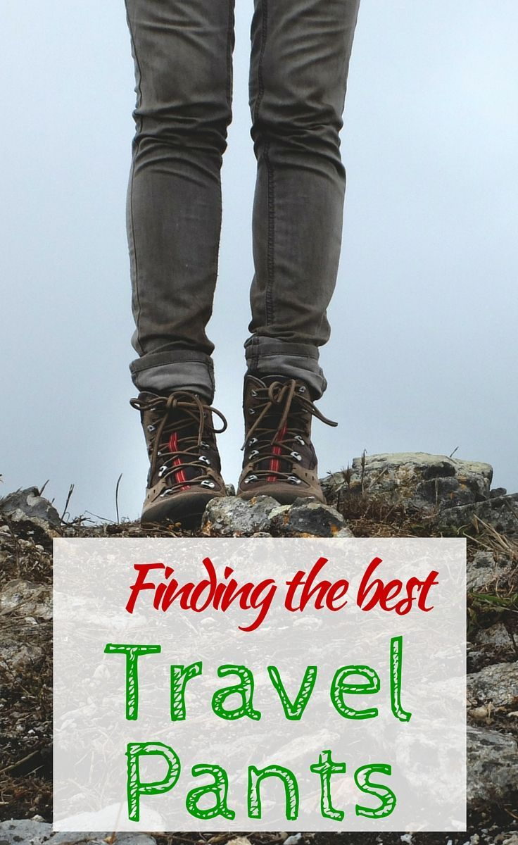 Our guide to finding the best travel pants including reviews of the best options. http://www.wheressharon.com/reviews/best-travel-pants-reviews/