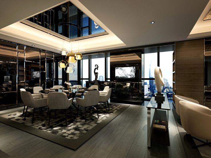service apartment interior design mocha - unit01_ (1) dining room