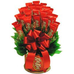 Kit Kat Candy Bouquet: Gourmet Food, Gifts Baskets, Kits Kat Bar, Kits Kat Bouquets, Food Baskets, Kat Candy, Great Gifts, Kits Kat Gifts Idea, Candy Bouquets