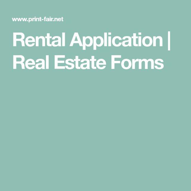Rental Application | Real Estate Forms