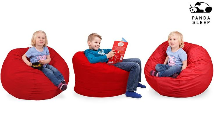 Amazon.com: Oversized Bean Bag Chair in Flaming Red - Machine Washable Big Soft Comfort Cover with Memory Foam Filler - Cozy Lounger & Bed - Kids & Teens Love This Huge Sack - by Panda Sleep: Kitchen & Dining