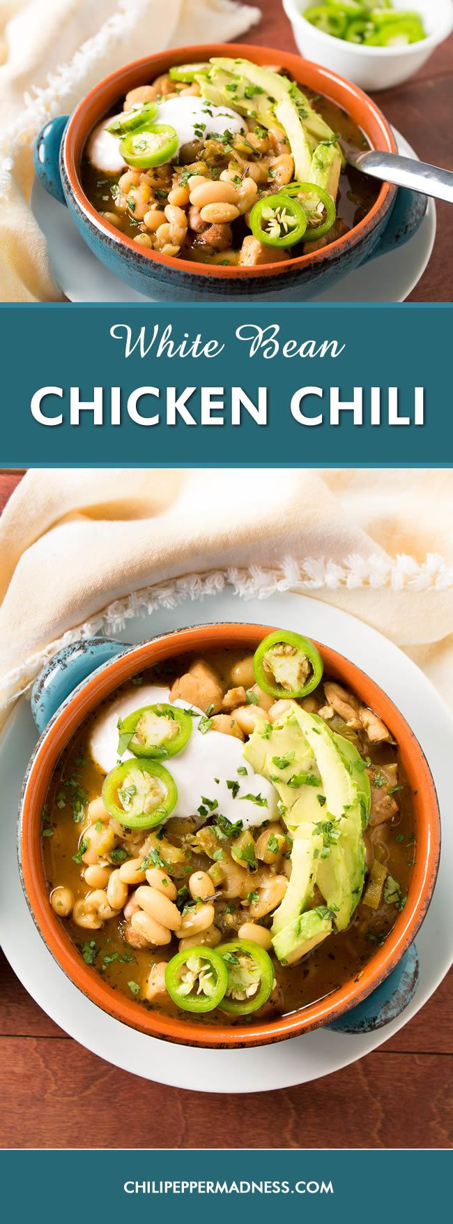 White Bean Chicken Chili - A hearty one-pot chili recipe with plenty ...