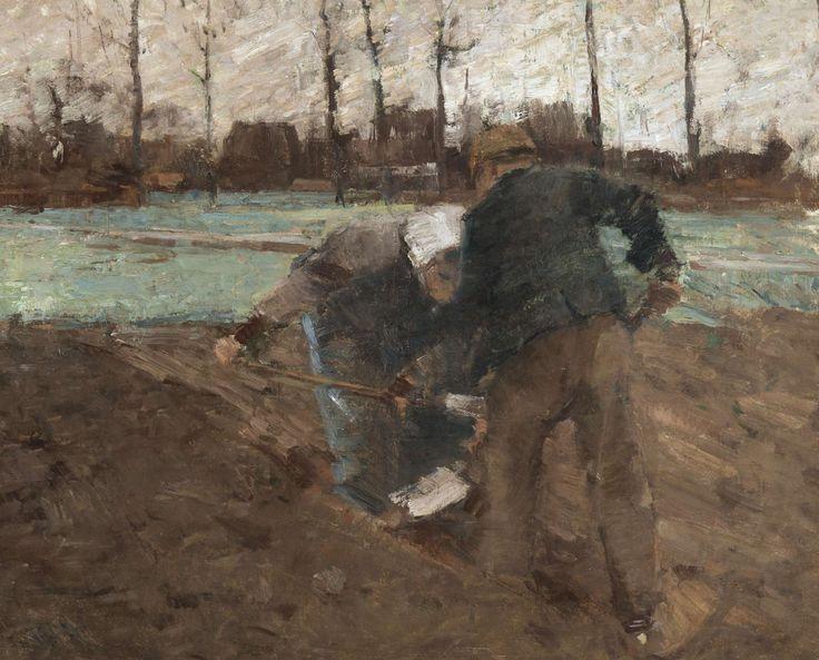 Henry Van de Velde (Belgian, 1863-1957), La récolte des pommes de terre [The Potato Harvest], 1886-87. Canvas, 75.5 x 93 cm.