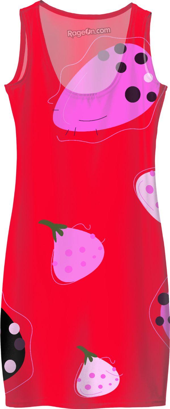 WILD FIGS ART RED DRESS SUMMER SHOP