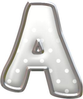 Alfabeto Plateado con Lunares.