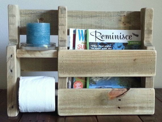 Rustic Magazine Rack Toilet Paper Holder made from by WoodXDesigns   – Dean casa…   – most beautiful shelves