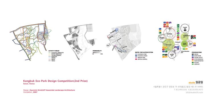 Kangbuk Eco-Park Design Competition, 2007 / LET Associate
