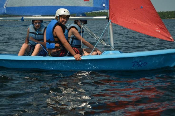 sailing at Camp Kitchi
