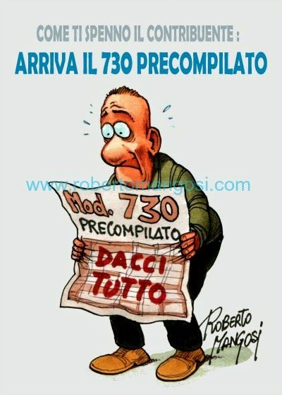 """ITALIAN COMICS - """"Il Mondo in una vignetta"""" di Roberto Mangosi: Come ti spenno il contribuente…"""