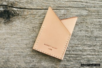 Natural leather card wallet 1
